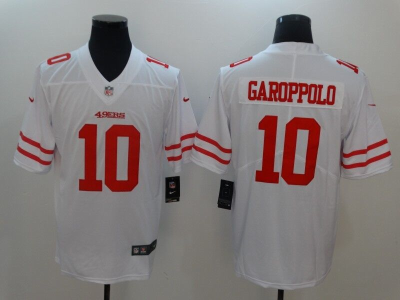 Men's Nike San Francisco 49ers #10 Jimmy Garoppolo White Vapor Untouchable Limited Stitched NFL Jersey
